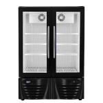 Double Glass Door Upright Freezers