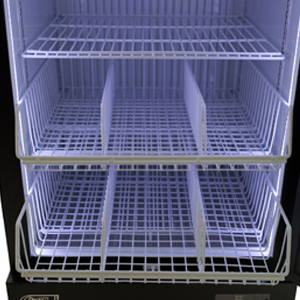 Low Profile Upright Freezer with Optional Baskets & Dividers
