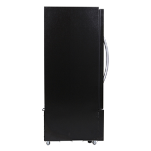 Glass Door Upright Refrigerator view from side