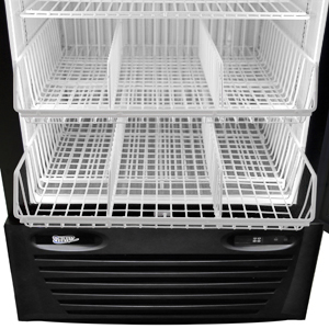 Single Glass Door Commercial Freezer with Optional Baskets