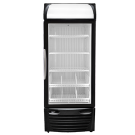 Stand Up Slim Display Freezer with accessories