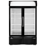 Double Door Display Refrigerator with Accessories