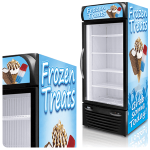 Optional Graphics for Freezers
