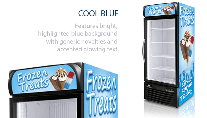 Cool Blue Graphics for Freezers
