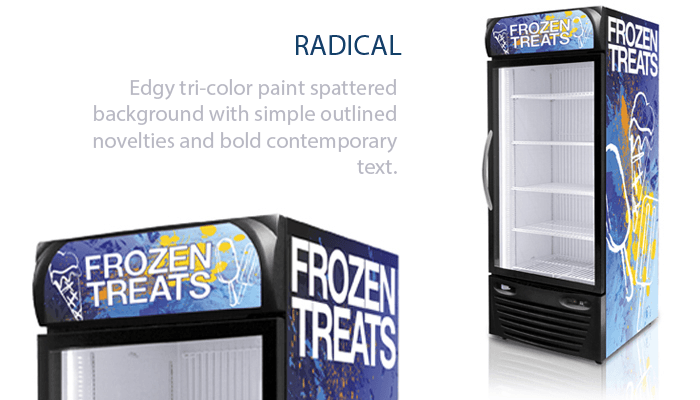Radical Graphics for Freezers