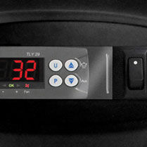 Digital temperature gauge for freezer