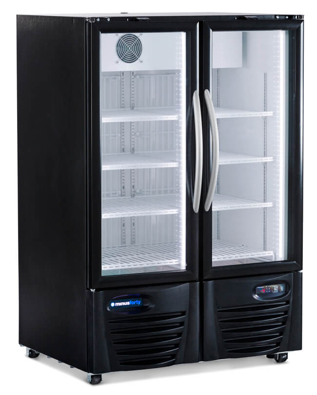 Double Glass Door Refrigerator Merchandiser