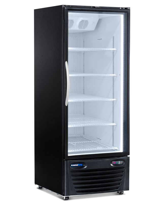 COMMERCIAL DISPLAY REFRIGERATOR MERCHANDISER WITH FULL HEIGHT DOOR