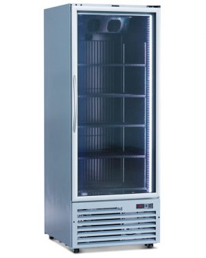DISPLAY REFRIGERATOR MERCHANDISER WITH FULL HEIGHT DOOR